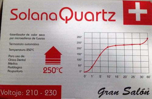 esterilizador solana.quartz. gran salón. sin uso