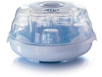 esterilizador vapor microondas mamaderas chupetes vasos bebe