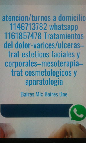 estetica/aparatos/mesoterapia/a domicilio/dolor/varices/