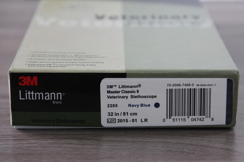 estetoscópio 3m littmann master veterinário navy blue 1392