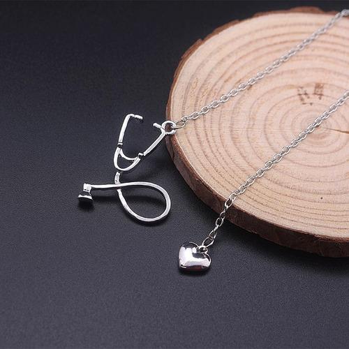 estetoscopio corazon dije collar doctor medico medicina pl