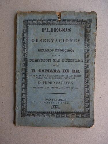estevez, p. pliego de observaciones y reparos... 1836
