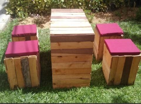 estibas de madera juegos de muebles