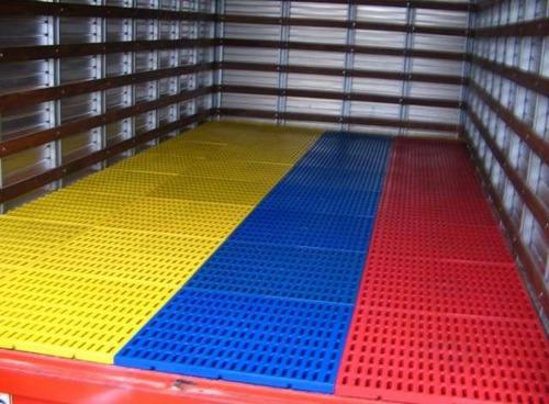 estibas plasticas para piso, furgones y cuartos frios