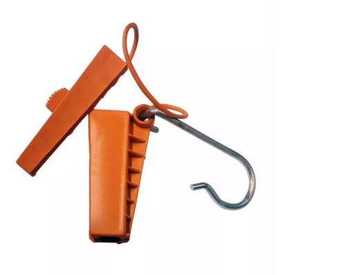 esticador fe e drop tipo cunha c/ abertura - 10un laranja