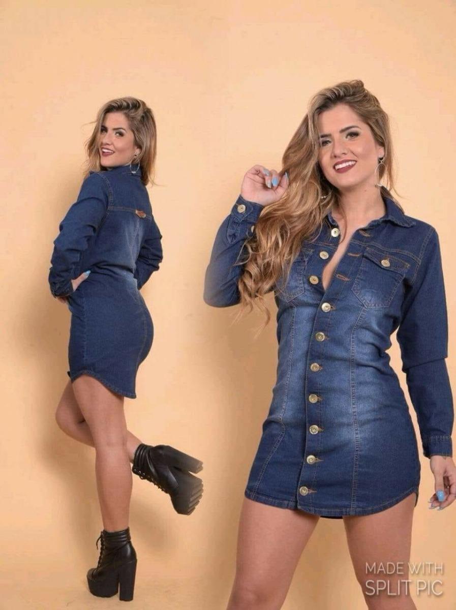 7f6764421 Estidos Jeans Feminino!!! A Moda Do Momento - R$ 120,00 em Mercado Livre