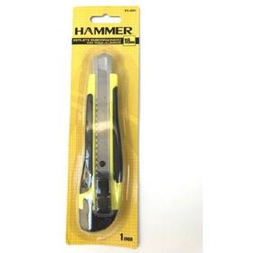 Estilete Emborrachado Com Trava E 3 Laminas 18mm Hammer