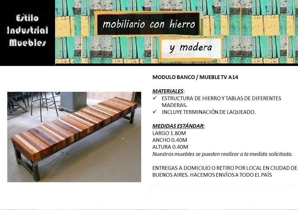 Estilo Industrial Muebles - $ 10.600,00 en Mercado Libre