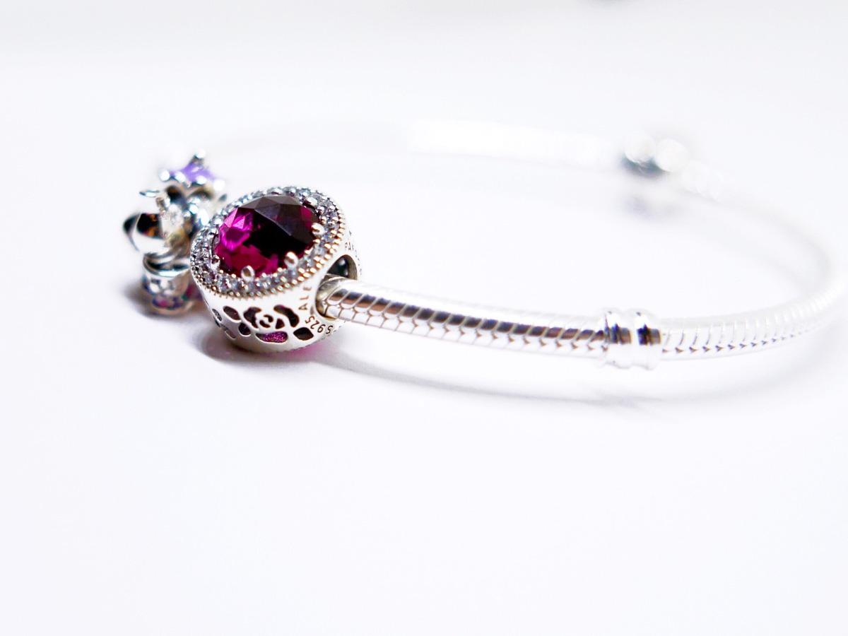 charm pandora rosa bella