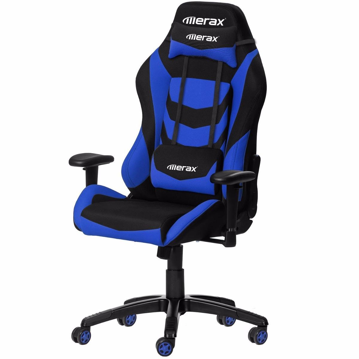 Estilo racing merax silla de oficina juegos azul 6 399 for Silla de oficina racing