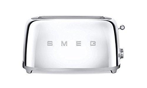 estilo retro de smeg tsf02ssus 50 estética 4 slice toaster,