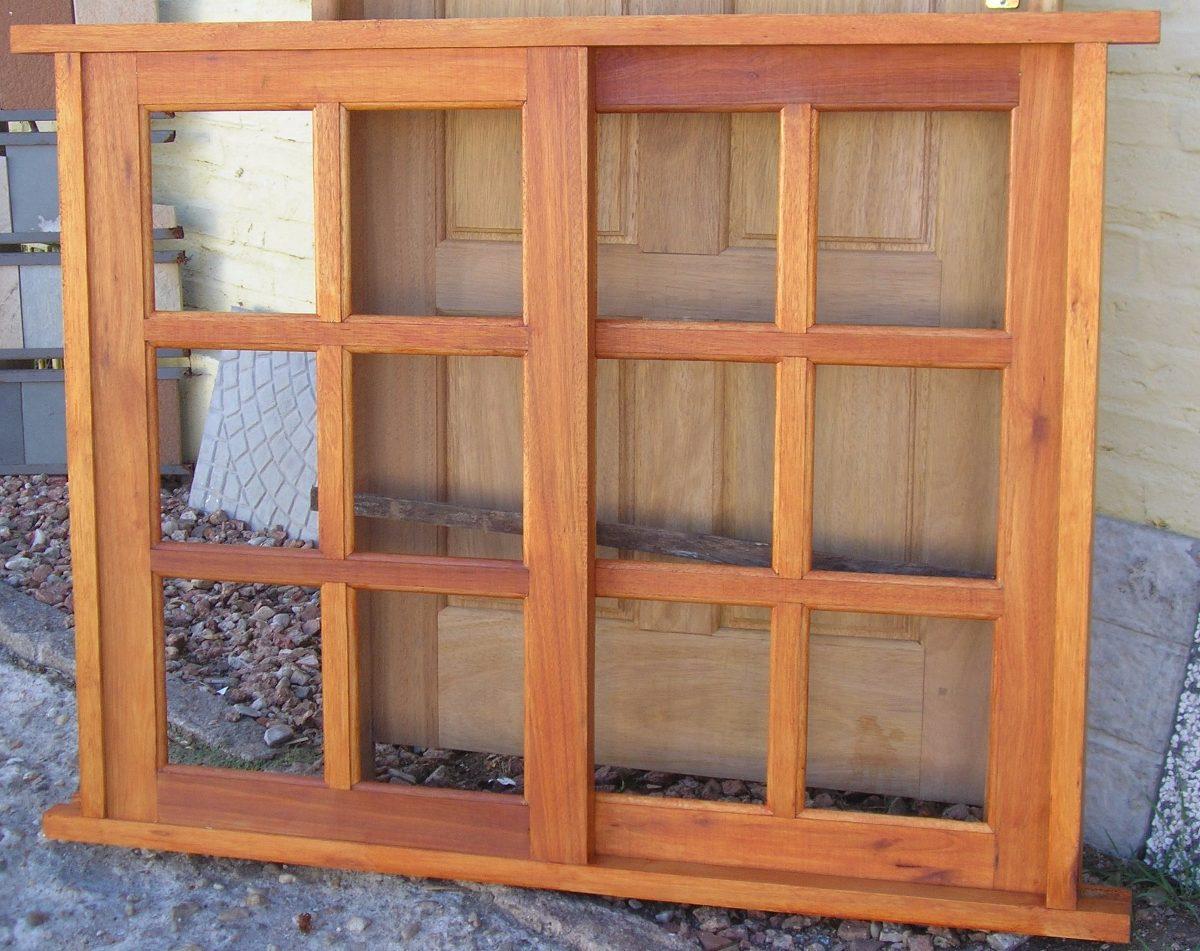 Estilo ventana madera colonial de primer sima calidad en mercado libre - Puertas internas de madera ...