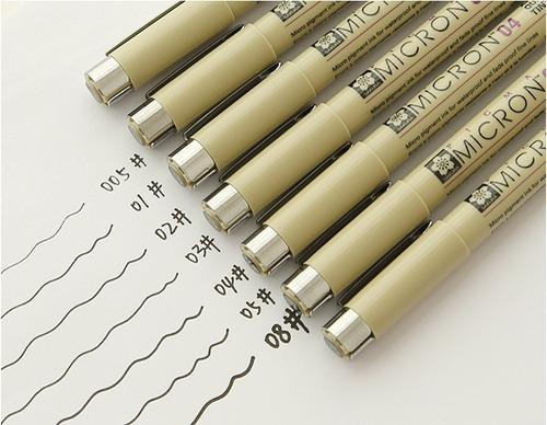 estilografo sakura pigma paquete de 7 puntas envio gratis