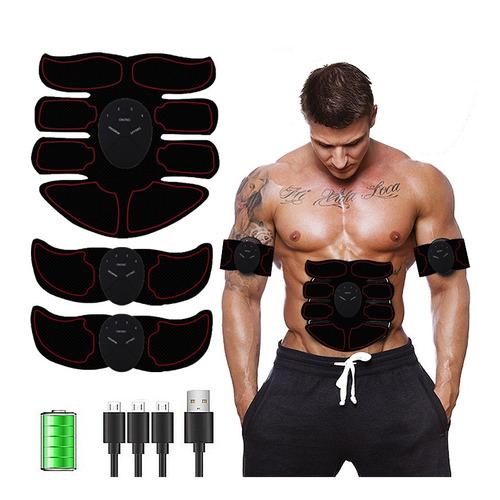 estimulador eléctrico p/músculos abdominales vak ems pro 8