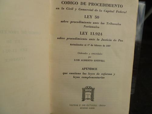 estivill codigo de procedimiento civil y comercial 1957 m5