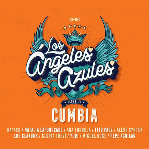 esto si es cumbia - los angeles azules - disco cd + dvd