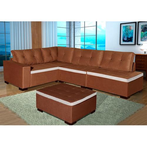Estofado de canto divano com puff bom pastor 051 055 for Puff divano