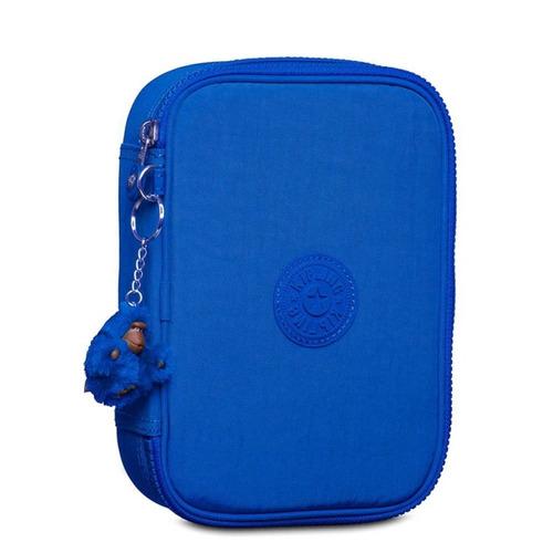 estojo 100 pens azul poseidon blue kipling