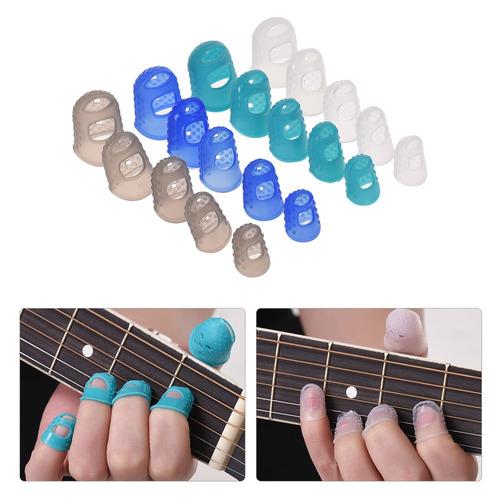 estojo acessórios guitarra inclui 20pcs dedo guitarra silico