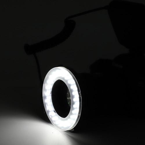 estojo anéis lente luz anel flash 48 led portátil anel adapt