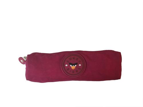 estojo angry birds - rosa sanya