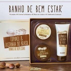 estojo banho de bem estar cupuaçu ecastanha do brasil avatim