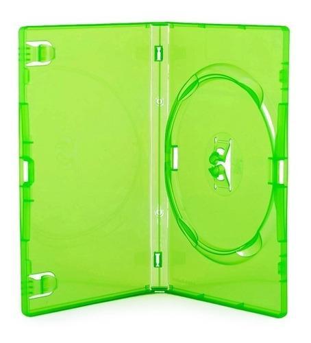 estojo box dvd amaray verde cx com 25 unidades