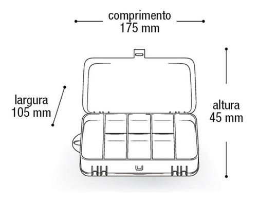 estojo box maleta organizador 2 em 1 para organizar objetos