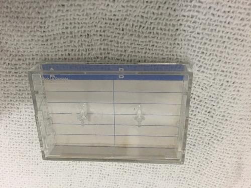 estojo caixa para fita micro cassete