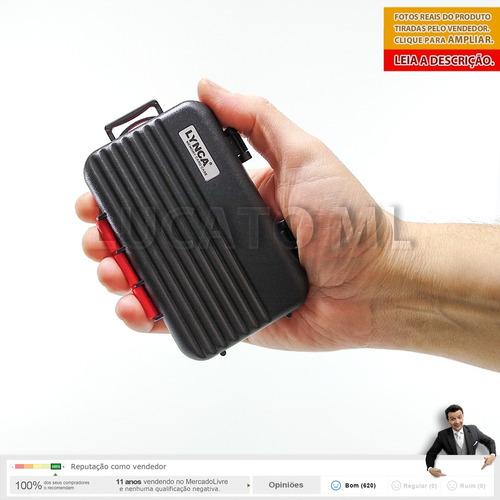 estojo cartão memória antichoque compact flash sd microsd np