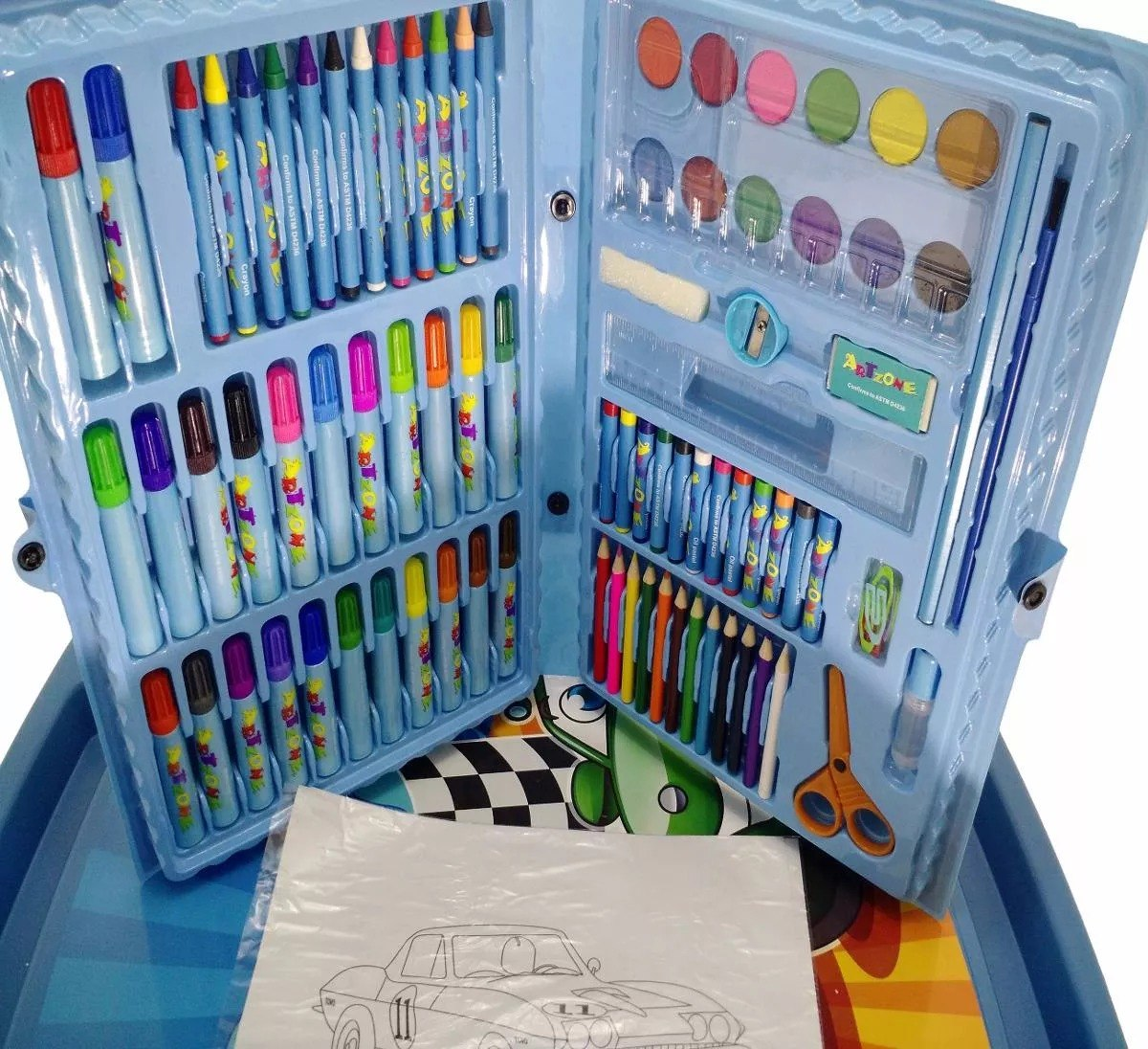 Estojo De Desenho Infantil Canetas Coloridas Escola Crianca R