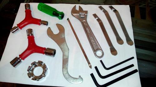 estojo de ferramenta c/ 12 pcs - p/ bike