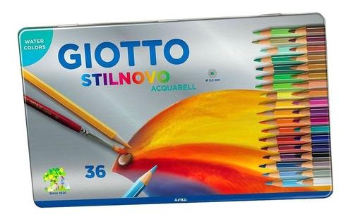 estojo de lapis aquarelavel giotto sextavado 36 cores
