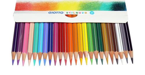 estojo em lata giotto de lapis aquarelavel 24 cores