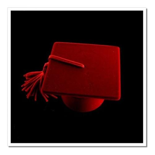 estojo em veludo vermelho sempre jóias- formatura - eb05