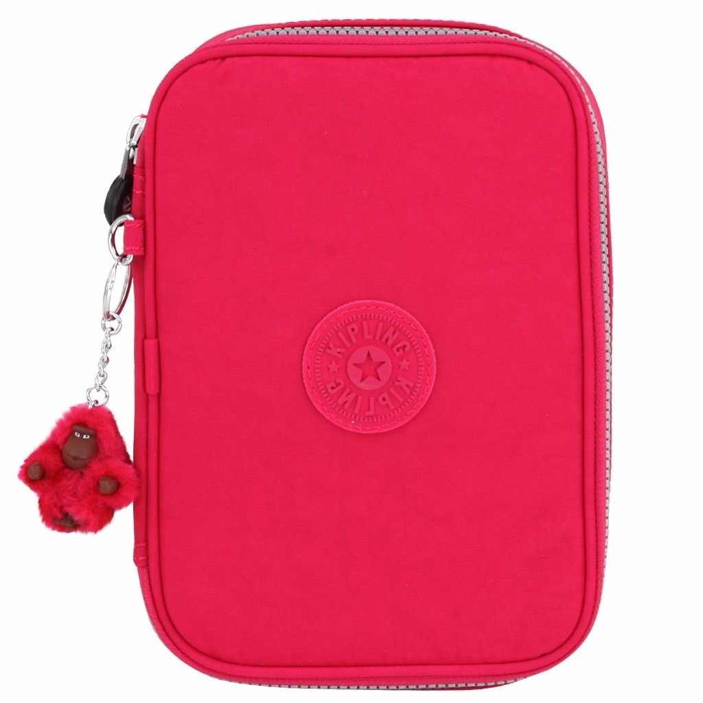Estojo Escolar Kipling 100 Pens Flamboyant Pink - R$ 299,00 em Mercado ...