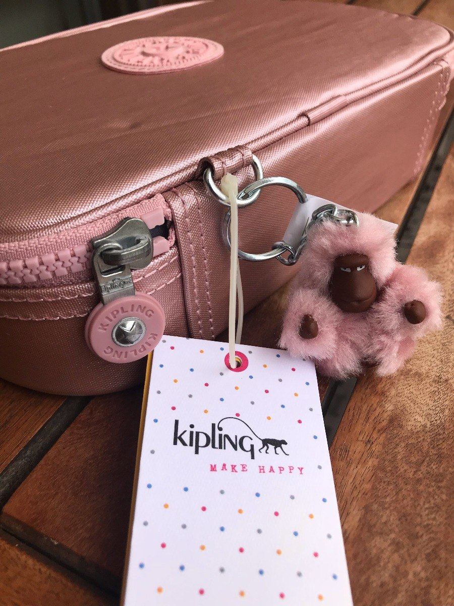 3a02c6216 estojo escolar kipling 100 pens rosa met original p. entrega. Carregando  zoom.