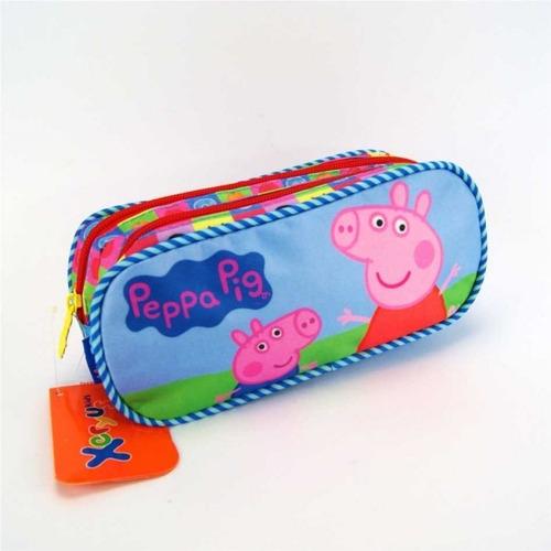 estojo escolar peppa pig duplo xeryus - 5545