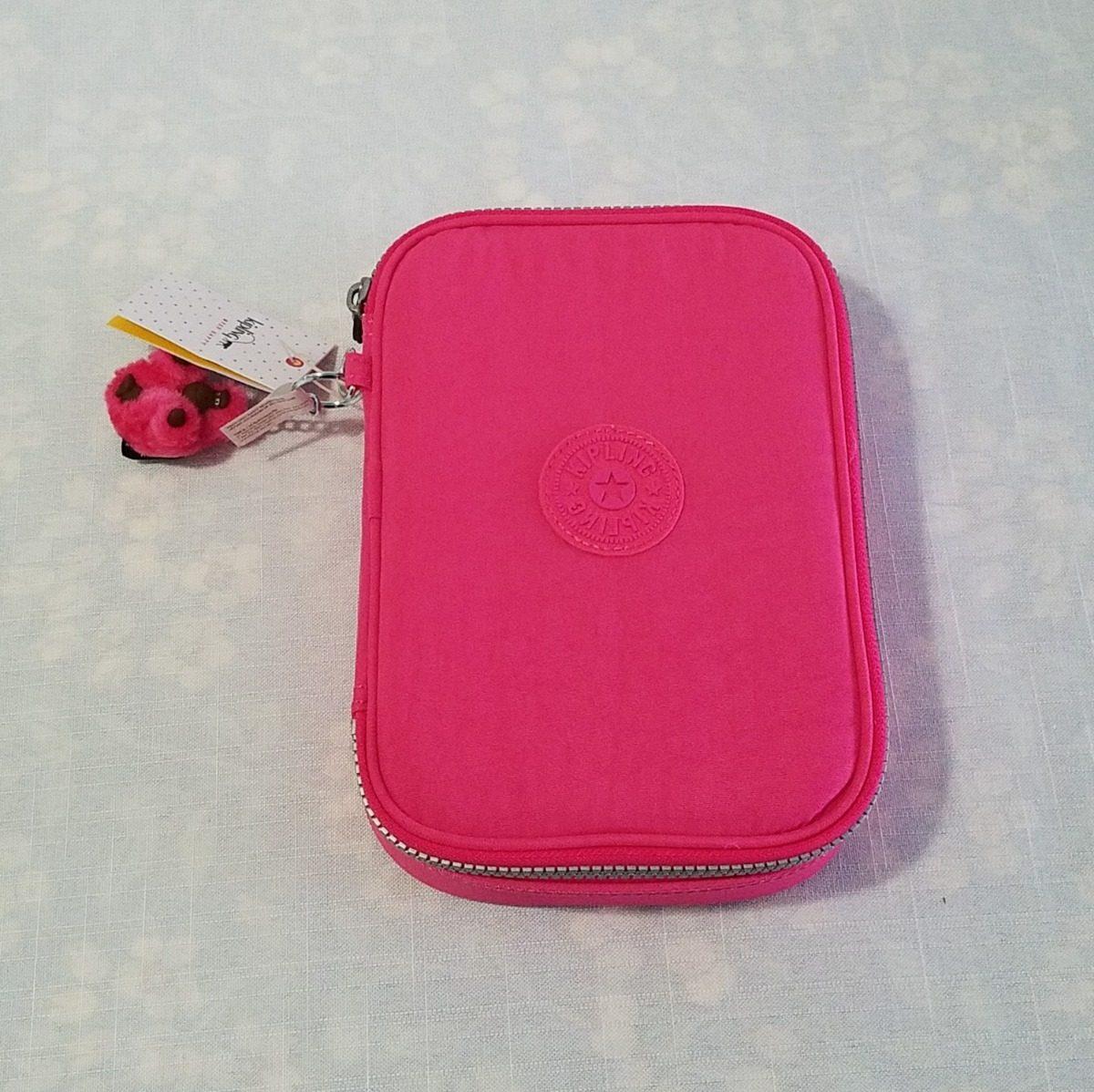 b8ae1b29e estojo kipling 100 pens hydrangea rosa original fret gratis. Carregando  zoom.