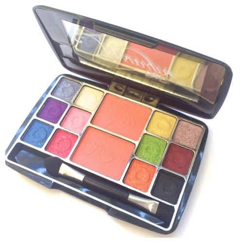 estojo kit maquiagem de bolsa 12 sombras 2 blushes+pincel 3d