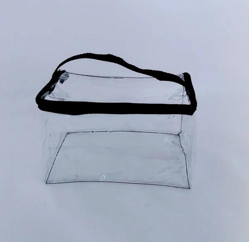 estojo necessaire transparente kit com 6 envio 24hs