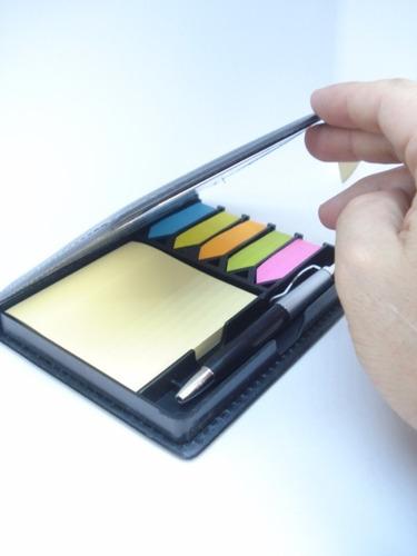 estojo organizador adesivo couro lembrete mensagens mod 02