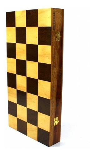 estojo  para jogo de xadrez em  madeira de lei