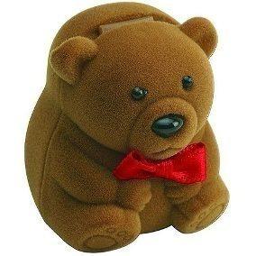 estojo para joias infantis urso 3 unidades