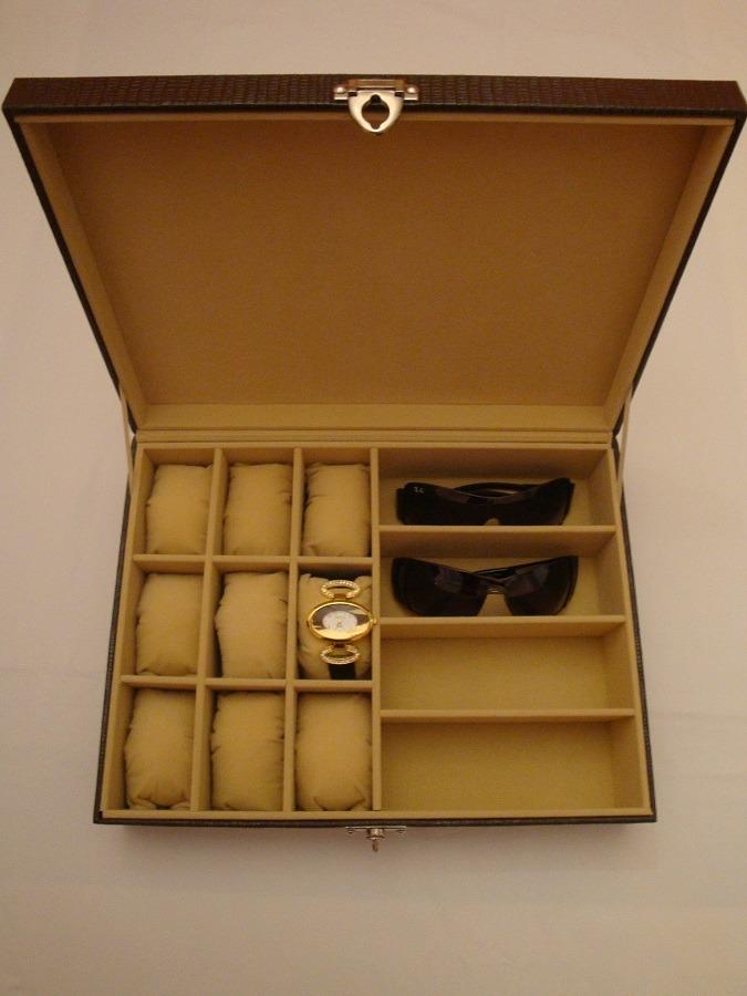 3ddea5c8d8b estojo para óculos e relógios exclusivo couro especial luxo. Carregando  zoom.