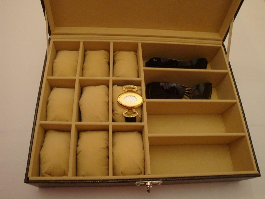 9471f44650c Estojo Para Óculos E Relógios Exclusivo Couro Especial Luxo - R  79 ...