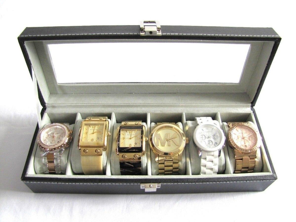 438e862ff5a estojo porta 6 relógios caixa relogio organizador - promoção. Carregando  zoom... estojo relógios caixa relogio. Carregando zoom.