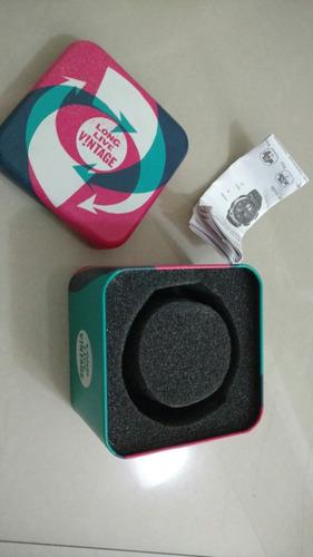 estojo/caixa/lata de relógio fossil (vintage)