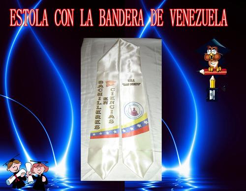 estola con la badera de venezuela