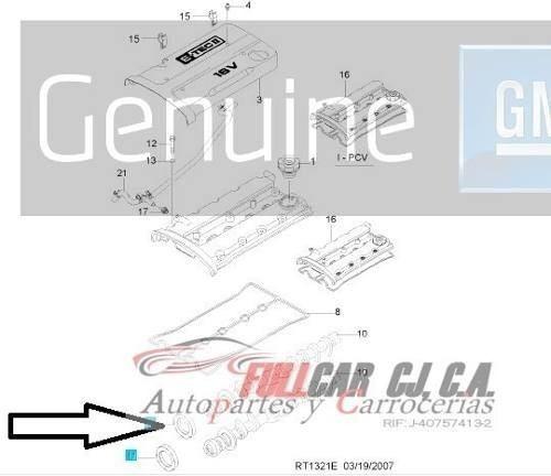 estopera delantera de leva aveo original gm 94580413